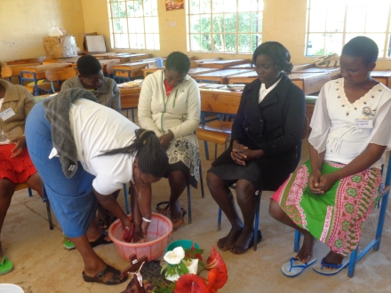 Kanini's washing of feet vocation Seminars Kenya