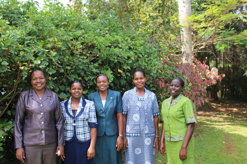 The newly Professed sisters joined us in the celebration. L-R  Srs Edna,Beatrice,Julie,Ruth and Joy.